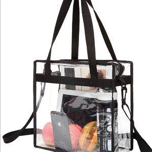 Clear work or school tote bag